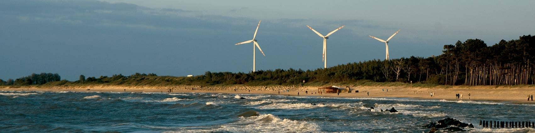 Ochrona środowiska a zmiany klimatu | Sektor elektroenergetyczny | Zwiększanie efektywności produkcji energii | Energetyka odnawialna: farmy wiatrowe na lądzie i morzu, fotowoltaika, biogazownie